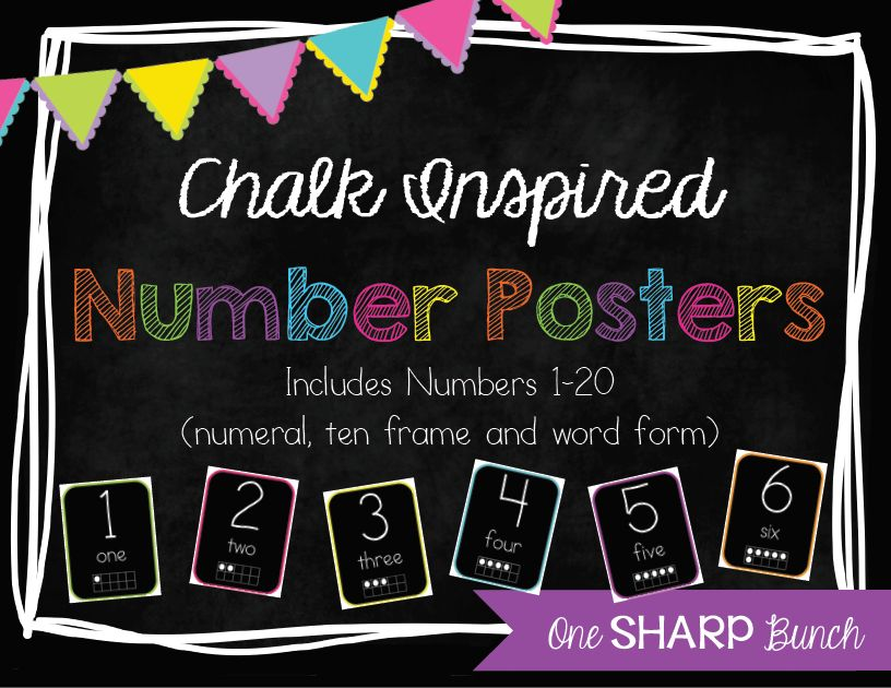 http://www.teacherspayteachers.com/Product/Chalk-Inspired-Number-Posters-786934