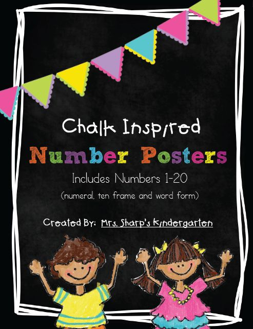 http://www.teacherspayteachers.com/Product/Chalk-Inspired-Number-Posters-with-a-Neon-Flair-786934