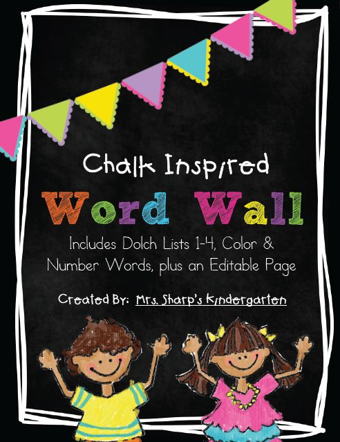http://www.teacherspayteachers.com/Product/Chalk-Inspired-Word-Wall-with-a-Neon-Flair-786960