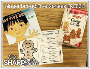 Gingerbread Five Senses FREEBIE