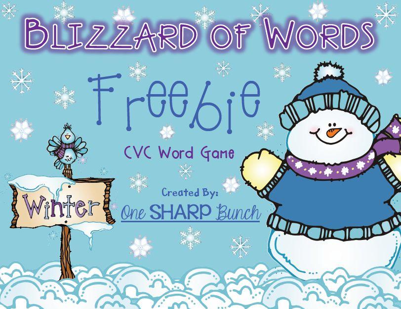 http://www.teacherspayteachers.com/Product/Winter-Blizzard-of-Words-CVC-Game-FREEBIE-496003