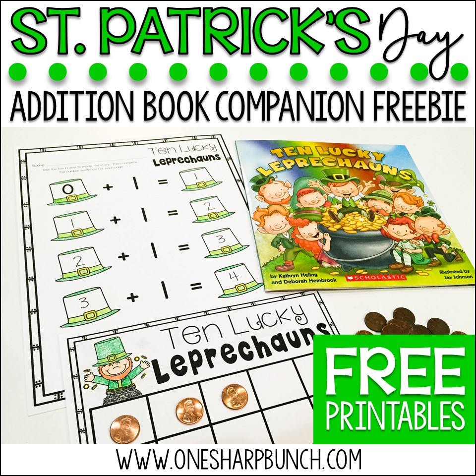 Engaging St. Patrick's Day activities for kids, including St. Patrick's Day books and a FREEBIE perfect for the story Ten Lucky Leprechauns!
