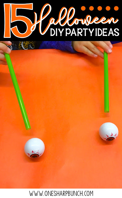 Simple DIY Halloween party ideas for the classroom, including Halloween games, Halloween crafts and Halloween food ideas! Don't forget to check out the vampire candy boxes perfect for all of your Halloween treats!