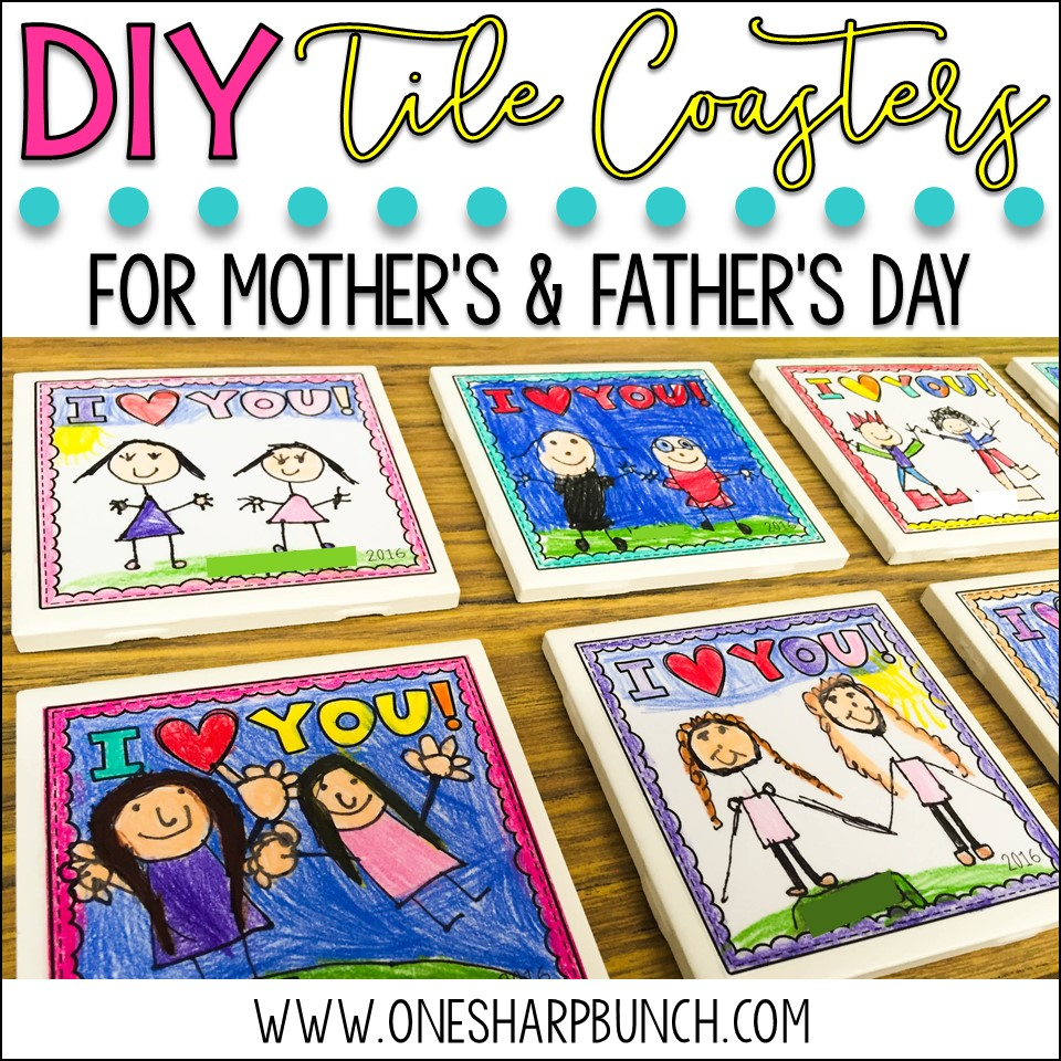 Mother's & Father's Day DIY Tile Coasters
